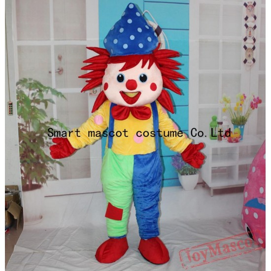 Eva Clown Mascot Costume Adult Clown Costume
