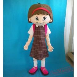 School Girl Mascot Costume Adult Beautiful Girl Costume