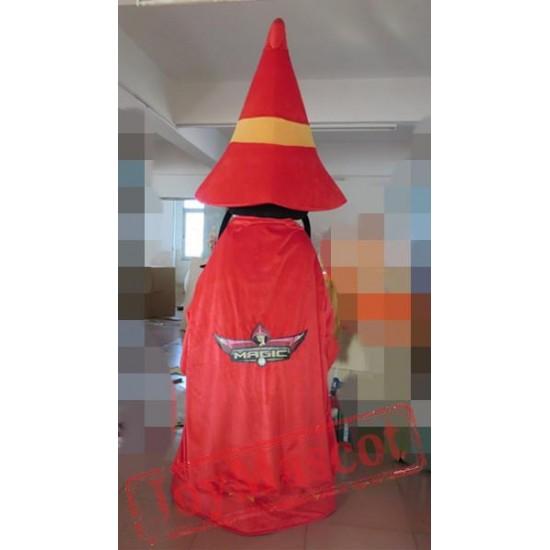 Mysterious Sorcerer Mascot Costume Sorcerer Mascot Wizard Mascot