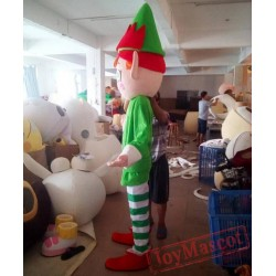 Adult Chirstmas Elf Mascot Costume