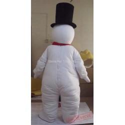 Black Hat Adult Snowman Mascot Costume