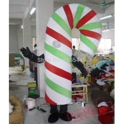 Candy Cane Mascot Costume For Adults