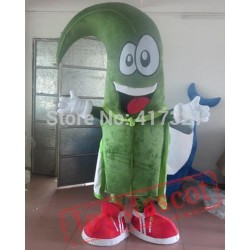 Green Monster With A White Cloak Mascot Costume Adult Monster Mascot
