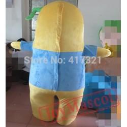 Yellow Monster Mascot Costume Adult Monster Mascot
