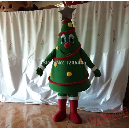 Funny Christmas Tree Mascot Costume Christmas Tree Costume