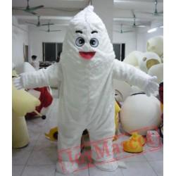 White Monster Mascot Adult White Snow Monster Costume Snow Monster Mascot Costume