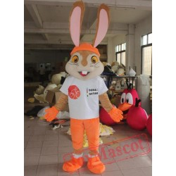 Adult Orange Rabbit Costume Plush Size Adult Rabbit Costume