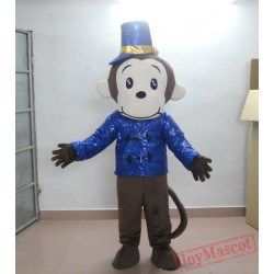 Adult Animal Mascot Costume Monkey In The Blue