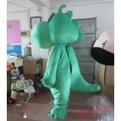 Green Dinosaur Mascot Costume For Adults Dinosaur Mascot