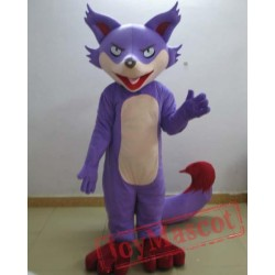 Purple Fox Mascot Costume For Adults