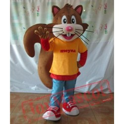 Adult Big Long Tail Squirrel Mascot Costume