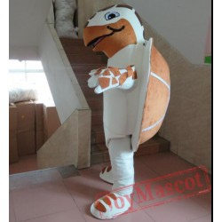 Brown And White Sea Turtle Mascot Costume For Adults