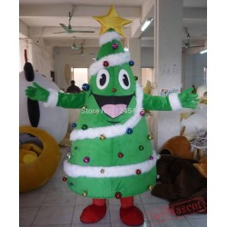 Adult Christmas Tree Mascot Costume