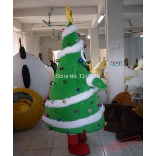 Adult Christmas Tree Mascot Costume