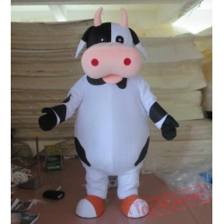 Adult Black And White Milk Cow Mascot Dairy Cattle Costume