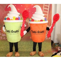 Fruit Frozen Yogurt Mascot Costume For Adult