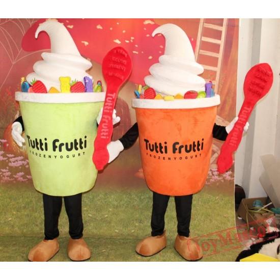 Fruit Frozen Yogurt Mascot Costume For Adult