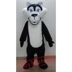 Adult Black Wolf Mascot Costume