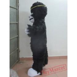 Handmade Plush Orangutan Mascot Costume Black Orangutan Mascot