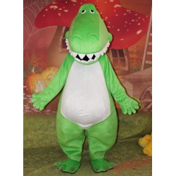 Adult Mascot Costume Green Dinosaur Costume