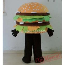 Walking Moving Hamburger Mascot Costume For Adults