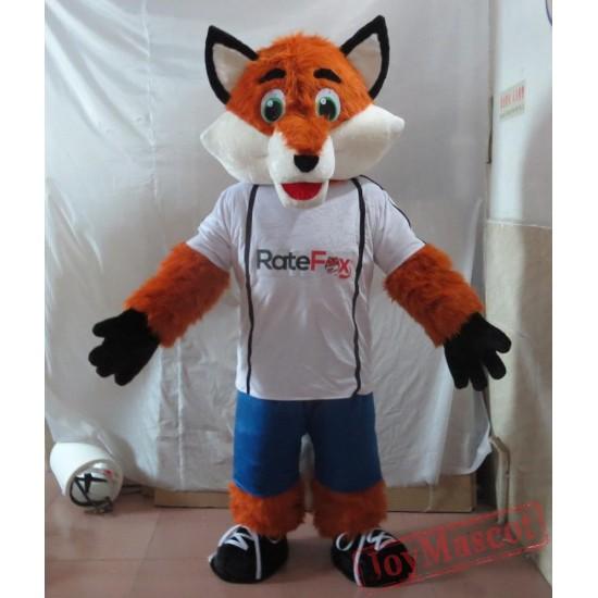 Sports Style Fox Mascot Costume Adult Fox Mascot