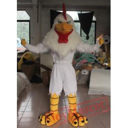 Eva Chicken Mascot Costume Easy Wearing Adult Muscle Chicken Mascot Costume