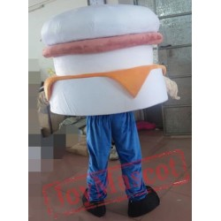Simple Hamburger Mascot Costume Adult Hamburger Mascot
