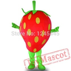 Professional Strawberry Mascot Costume Adult Strawberry Mascot