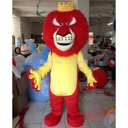 Red Hair Lion Mascot Costume Lion Costume For Adults