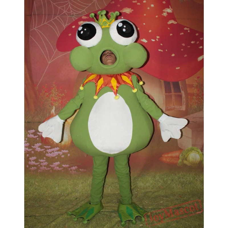 sc 1 st  Cheap Mascot Costumes & Big Eyes Prince Frog Mascot Costume Adult Frog Mascot