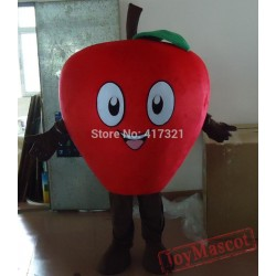 Laughing Red Apple Mascot Costume Adult Apple Costume