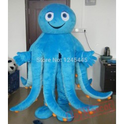 Octopus Costumes Green Blue Purple Yellow Octopus Mascot Costume For Adult