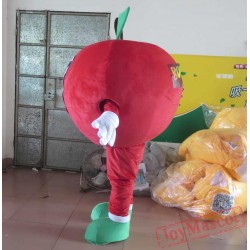 Adult Apple Costume Red Apple Mascot Apple Mascot Costume