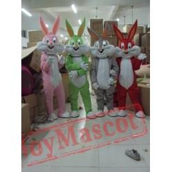 Easter Bunny Mascot Costume Bugs Gray Rabbit Hare Adult Cartoon