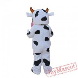 Cartoon Mascot Clothing In The Shape Of Farm Cow