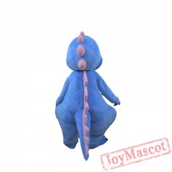 Blue Cute Dinosaur Mascot Costume