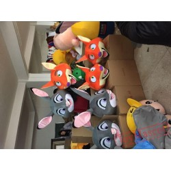 Zootopia Judy Hopp Rabbits Nick Fox Mascot Costume