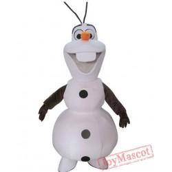 Adult Olaf Mascot Costume Snowman Costumes