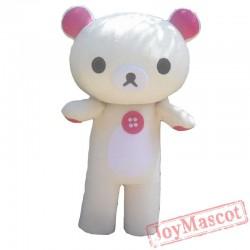 Japanese Cartoon Mascot Rilakkuma Mascot Costume Korirrakuma Bear Mascot