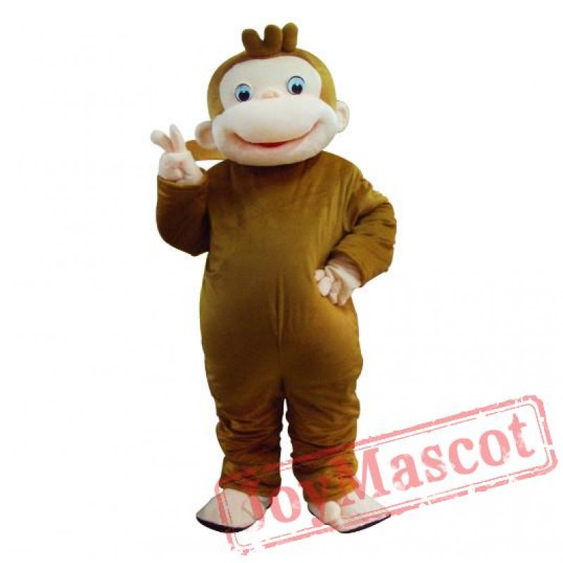 curious george monkey mascot costumes cartoon halloween costume