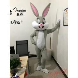 Hot Easter Bunny Mascot Costumes Rabbit Bugs Bunny Adult Mascot