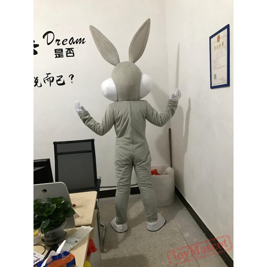 2018 Easter Bunny  Rabbit Bugs Mascot Costume fancy dress 10 Colors Adults size