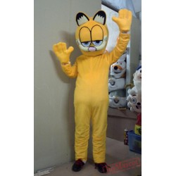 Cartoon Costume Garfield Halloween Mascot
