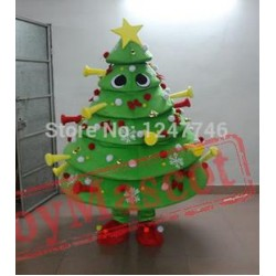 Christmas Tree Mascot Costume Cartoon Mascot