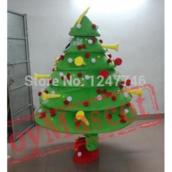 Christmas Tree Mascot Costume Cartoon Mascot