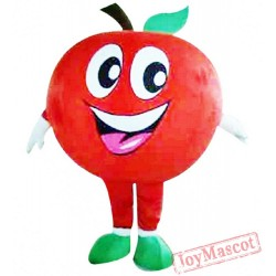 Red Apple Mascot Costume For Adults Apple Costume