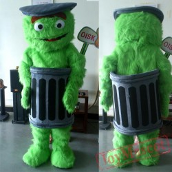 Sesame Street Oscar The Grouch Mascot Costume Cartoon Costume