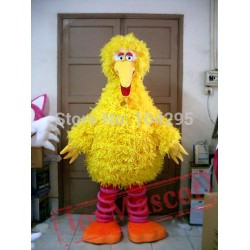 Sesame Street The Big Yellow Bird Mascot Costume Cartoon Animal Mascot