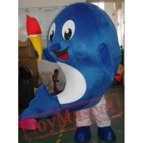 Blue Big Whale Mascot Costumes Halloween Easter